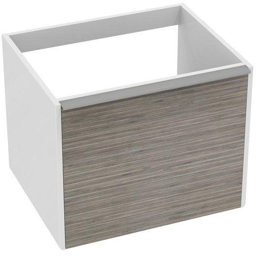 Meuble de salle de bains meuble de salle de bains et vasque leroy merlin - Meuble vasque bambou ...