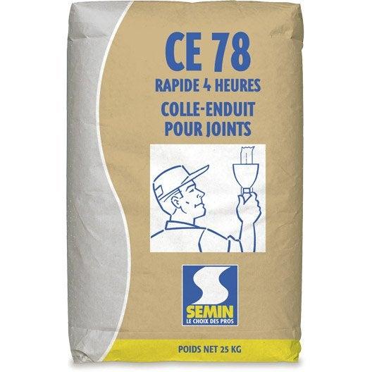 Enduit pour joint de plaque de pl tre ce 78 semin 25 kg for Enduit pour joint plaque de platre