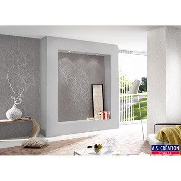 papier peint vinyle expans sur intiss serpentin gris. Black Bedroom Furniture Sets. Home Design Ideas