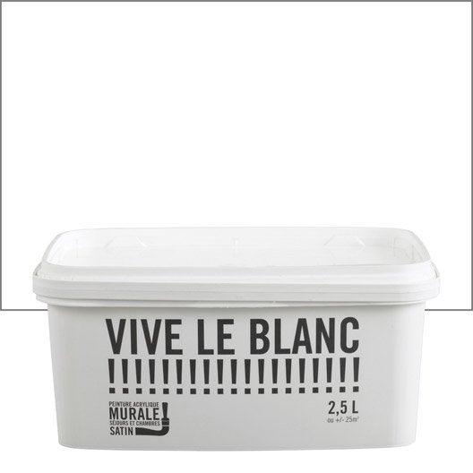 Peinture blanc vive la couleur 2 5 l leroy merlin - Vive le jardin salon de provence horaires ...