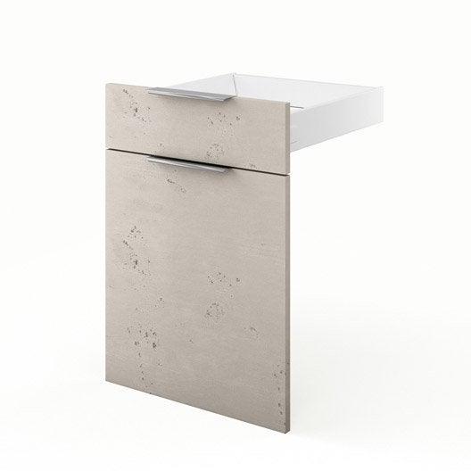 Porte tiroir de cuisine d cor b ton fd50 loft l50 x h70 - Loft beton cire leroy merlin ...