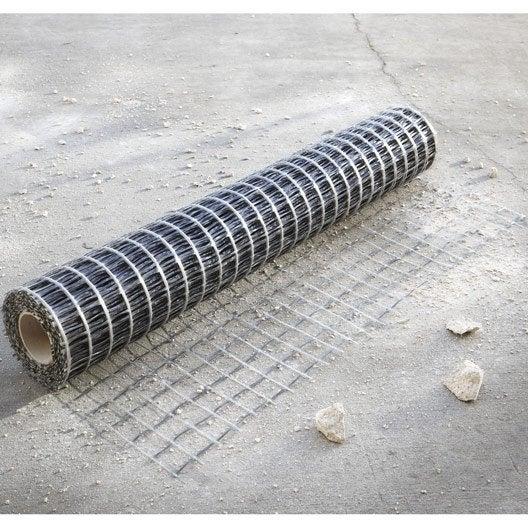 Treillis fibre de verre souple pour chape glasstex 20 x 1 m leroy merlin - Treillis soude pour dalle beton ...