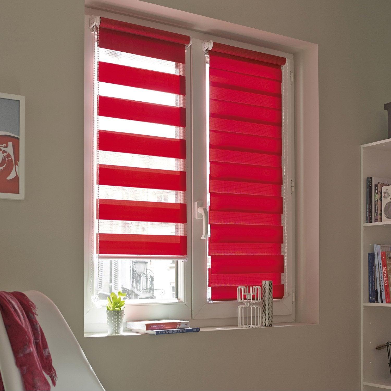 Store enrouleur jour / nuit INSPIRE, rouge rouge n°3, 41 x 160 cm