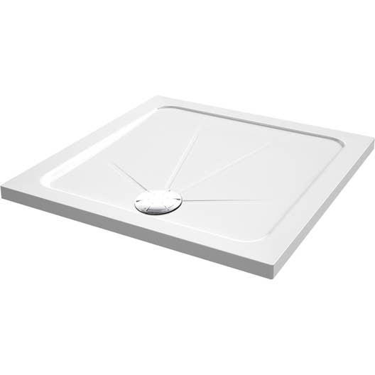 receveur de douche carr x cm acrylique blanc opus leroy merlin. Black Bedroom Furniture Sets. Home Design Ideas