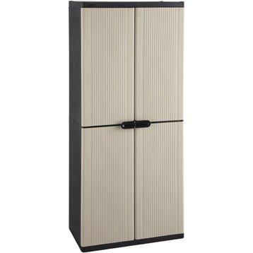 Etag re et armoire utilitaire armoire m tallique rangement garage leroy merlin - Armoire utilitaire resine ...
