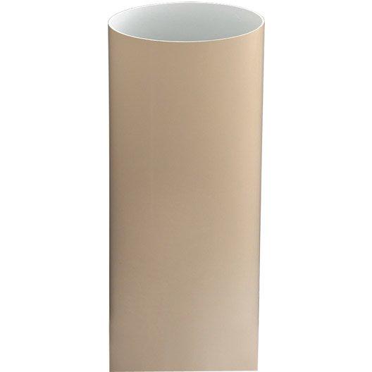 tuyau de descente pvc sable mm l 2 8 m girpi leroy merlin. Black Bedroom Furniture Sets. Home Design Ideas