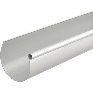 Gouttière demi-ronde PVC GIRPI dév.33 cm grise L.4 m