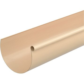 Gouttière demi-ronde PVC GIRPI dév.33 cm sable L.4 m