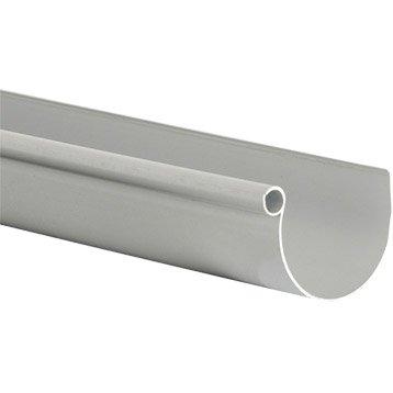 Gouttière demi-ronde PVC GIRPI dév.33 cm grise L.2 m