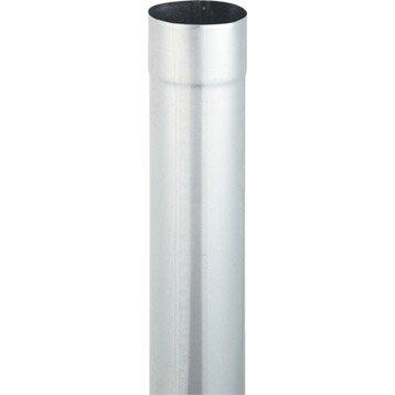 Tuyau de descente acier galvanisé gris Diam.100 mm L.2 m SCOVER PLUS