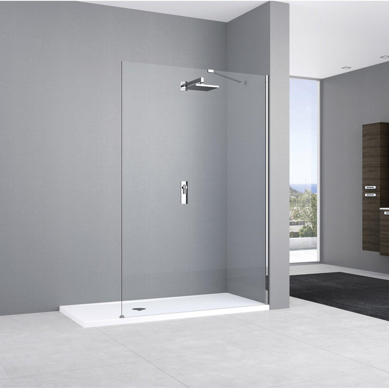 Paroi de douche à l'italienne, l.90 cm verre transparent 8 mm