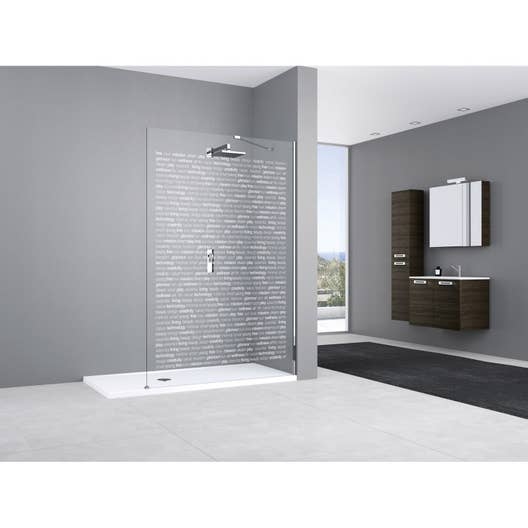 paroi de douche l 39 italienne cm verre s rigraphi. Black Bedroom Furniture Sets. Home Design Ideas
