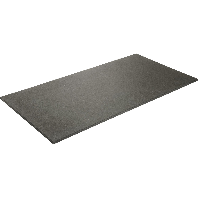 plateau de table mdf noir x cm x mm leroy merlin. Black Bedroom Furniture Sets. Home Design Ideas