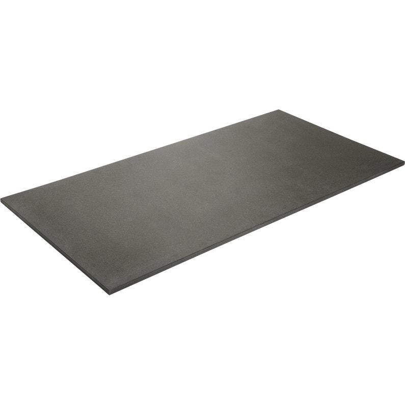 Plateau De Table Mdf Noir L160 X L80 Cm X Ep19 Mm