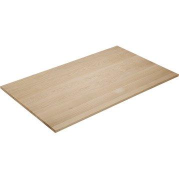 Plateau de table chêne pleine lame, L.120 x l.70 cm x Ep.20 mm
