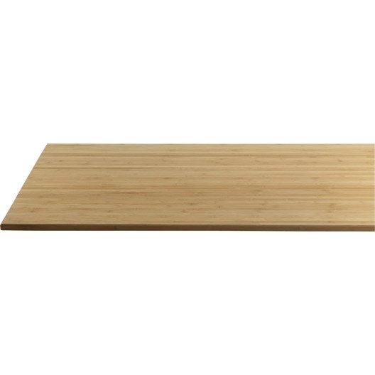 finest plateau de table bambou l x l cm x ep with leroy merlin parquet bambou. Black Bedroom Furniture Sets. Home Design Ideas