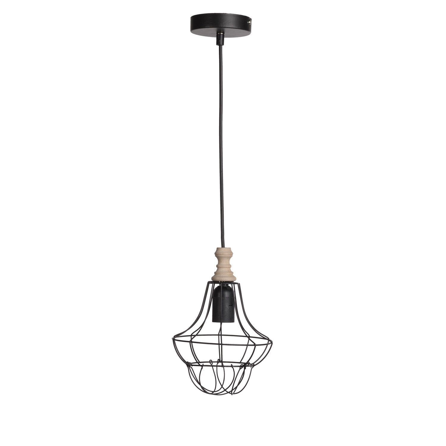 Suspension, e27 design Balade métal noir 1 x 60 W MATHIAS
