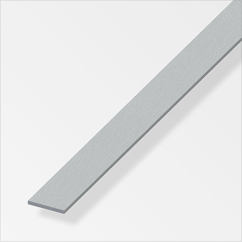 Plat aluminium brossé L 2 5 m x l 2 cm