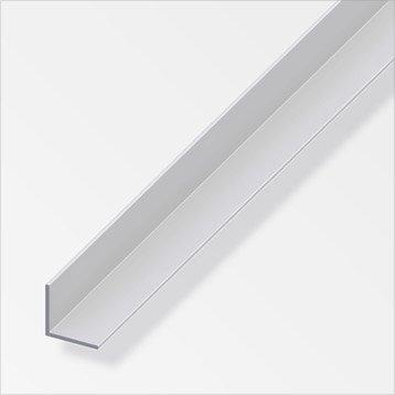 Cornière égale aluminium anodisé, L.2.5 m x l.1 cm x H.1 cm
