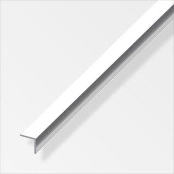 Cornière égale aluminium brillant, L.2.5 m x l.1 cm x H.1 cm