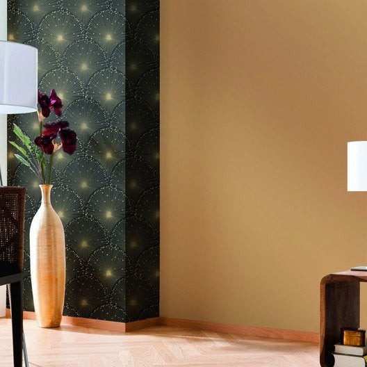 papier peint intiss uni flat or leroy merlin. Black Bedroom Furniture Sets. Home Design Ideas