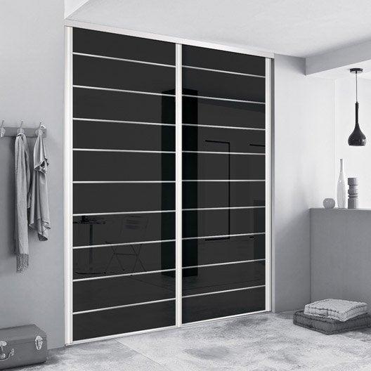 Porte de placard coulissante sur mesure spaceo traditionnel de 100 1 120 cm - Porte de placard 50 cm ...