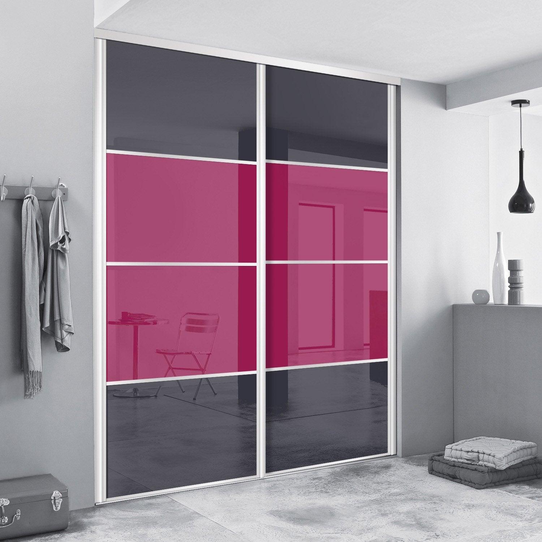 porte de placard coulissante sur mesure spaceo alliance de 40 60 cm leroy merlin. Black Bedroom Furniture Sets. Home Design Ideas