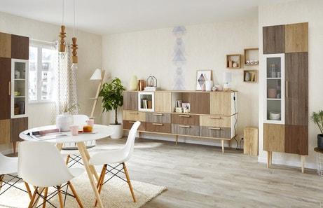 Un salon mixant le scandinave et le vintage