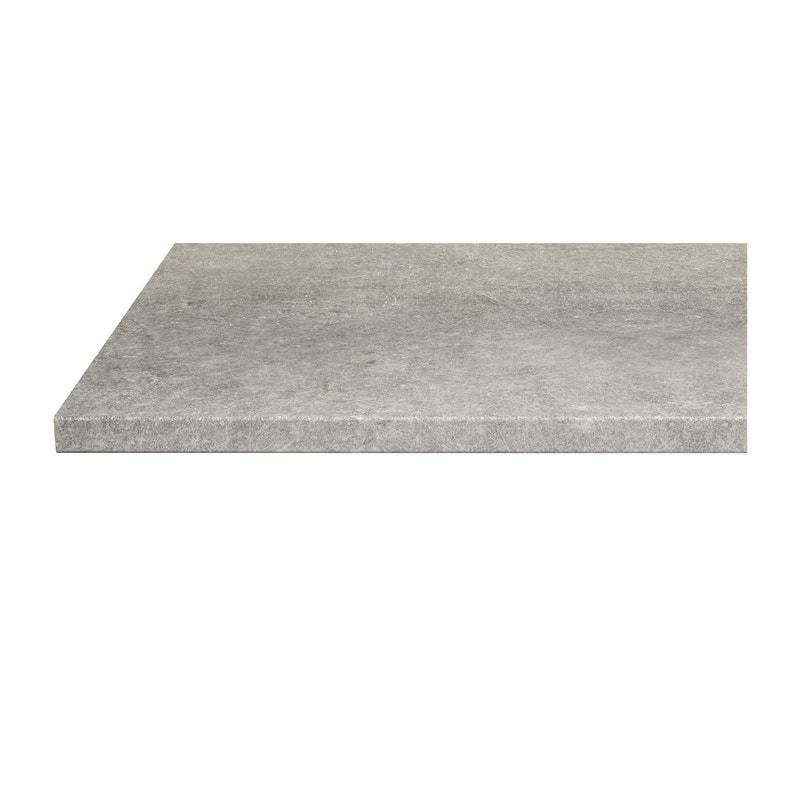d82237b1fa0 ... Plan de travail stratifié Effet pietra Satiné L.246 x P.63.5 cm
