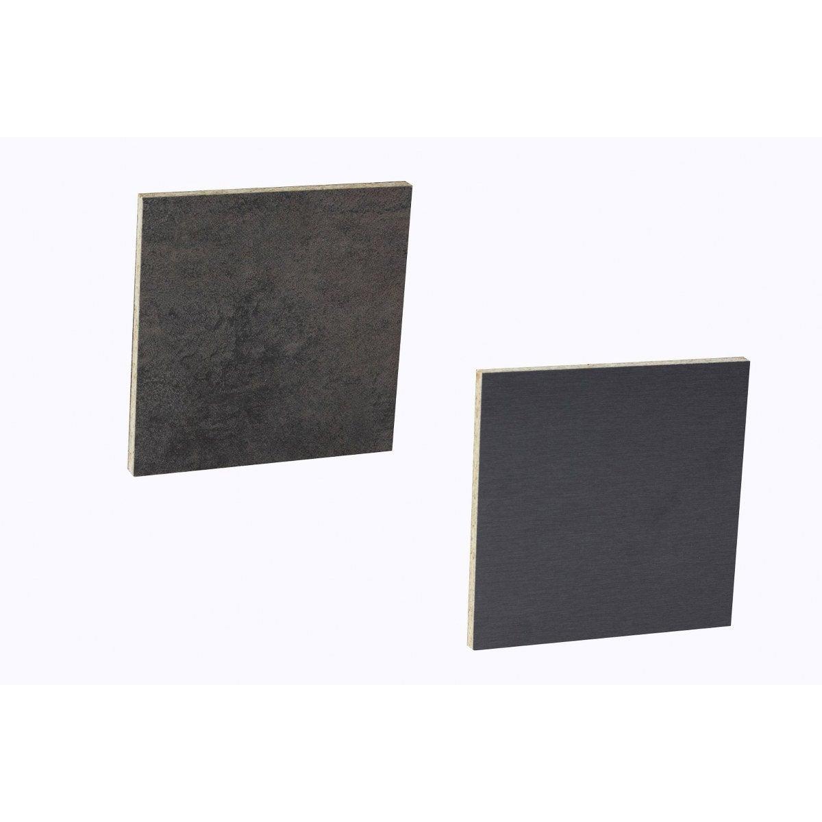 Crédence Stratifié Effet Metal Cuivre Inox H 64 Cm X Ep 9 Mm X L 300 Cm