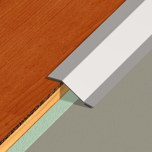 barre de seuil adh sif en inox dinac gris 50 x 93 cm. Black Bedroom Furniture Sets. Home Design Ideas