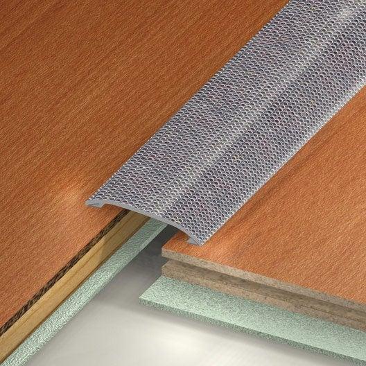 barre de seuil inox gris x l 3 7 cm leroy merlin. Black Bedroom Furniture Sets. Home Design Ideas