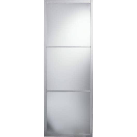 porte coulissante aluminium gris aspen artens x cm leroy merlin. Black Bedroom Furniture Sets. Home Design Ideas