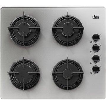 Table de cuisson gaz 4 foyers largeur 60 cm fgg64oitm - Leroy merlin plaque de cuisson ...