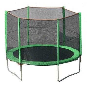 trampoline ext rieur pour enfants portique maisonnette trampoline et toboggan leroy merlin. Black Bedroom Furniture Sets. Home Design Ideas