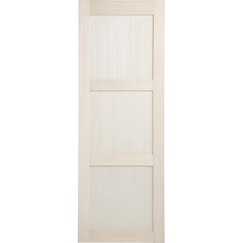 porte coulissante paulownia plaqu bowen 204 x 83 cm leroy merlin. Black Bedroom Furniture Sets. Home Design Ideas