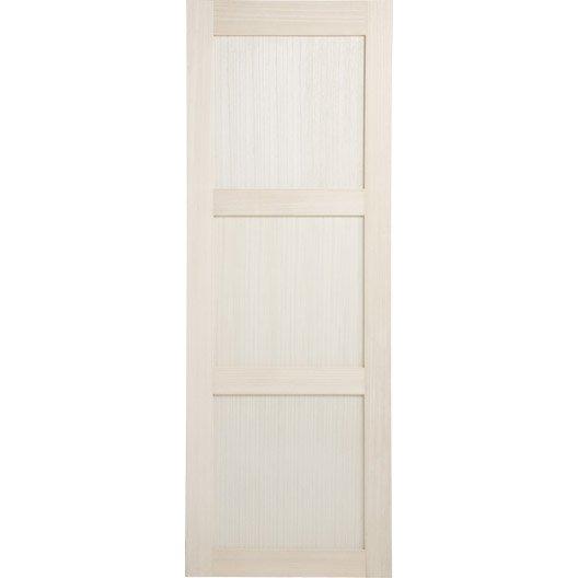 Porte coulissante paulownia plaqu bowen 204 x 83 cm - Porte coulissante recoupable ...