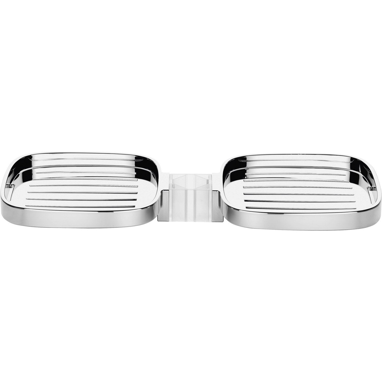 Portesavon Chrome HANSGROHE Casetta Cube Leroy Merlin - Porte savon pour douche