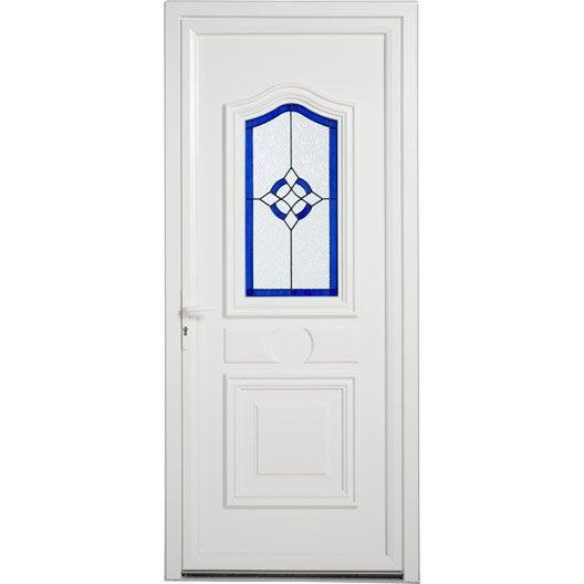 Porte d 39 entr e pvc granada artens poussant gauche x for Porte d entree 80 cm