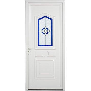 Porte d'entrée pvc Granada ARTENS poussant gauche, H.215 x l.90 cm