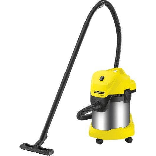 aspirateur eau poussi res et gravats karcher wd3 premium 21 kpa 17 l leroy merlin. Black Bedroom Furniture Sets. Home Design Ideas