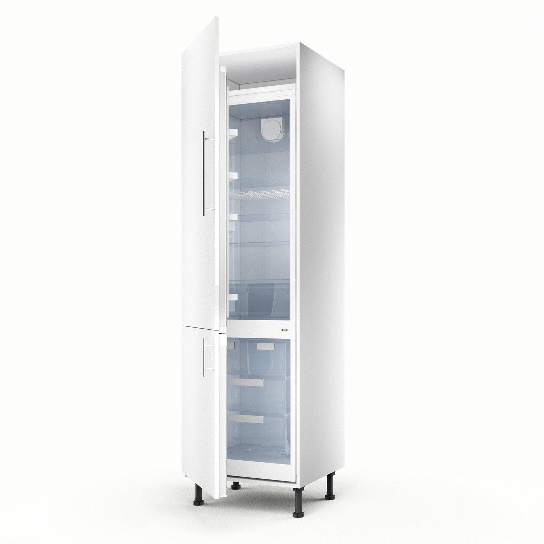 Meuble de cuisine colonne blanc 2 portes Rio H.200 x l.60 x P.56 cm on