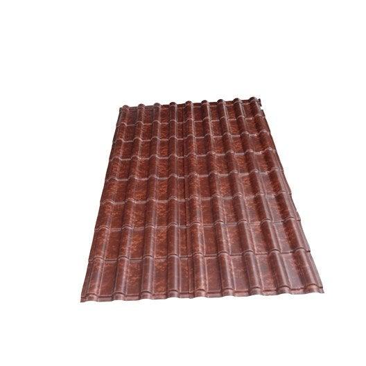 Plaque Imit. Tuile Composite Cendre Antique FIRST PLAST