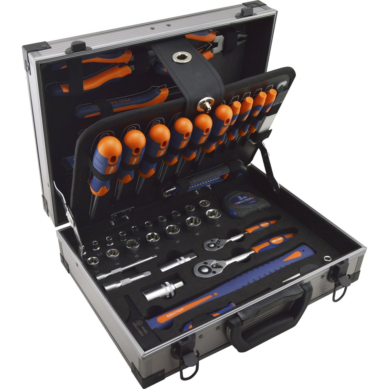 Coffret d 39 outils 110 pi ces dexter leroy merlin - Malette rangement outils vide ...