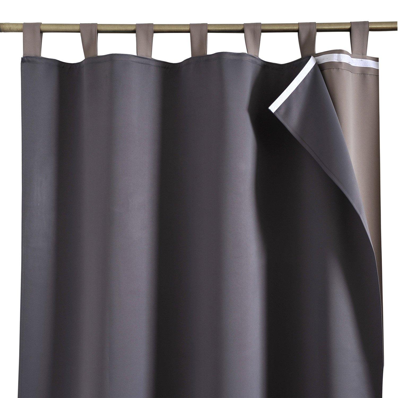 doublure occultant black gris x cm inspire leroy merlin. Black Bedroom Furniture Sets. Home Design Ideas