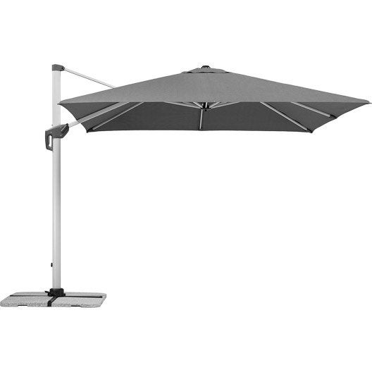 parasol d 233 port 233 monaco gris carr 233 l 300 x l 300 cm leroy merlin