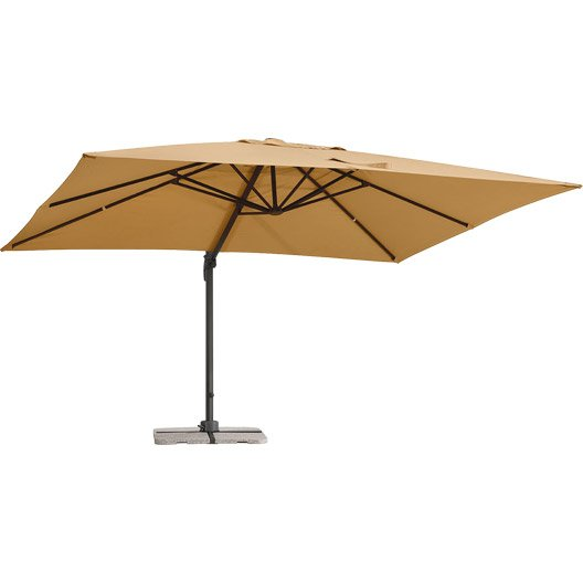 parasol d port rhodos sable rectangulaire x cm leroy merlin. Black Bedroom Furniture Sets. Home Design Ideas
