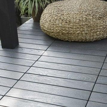 Dalle terrasse caillebotis terrasse bois terrasse composite leroy merlin - Dalle composite clipsable ...
