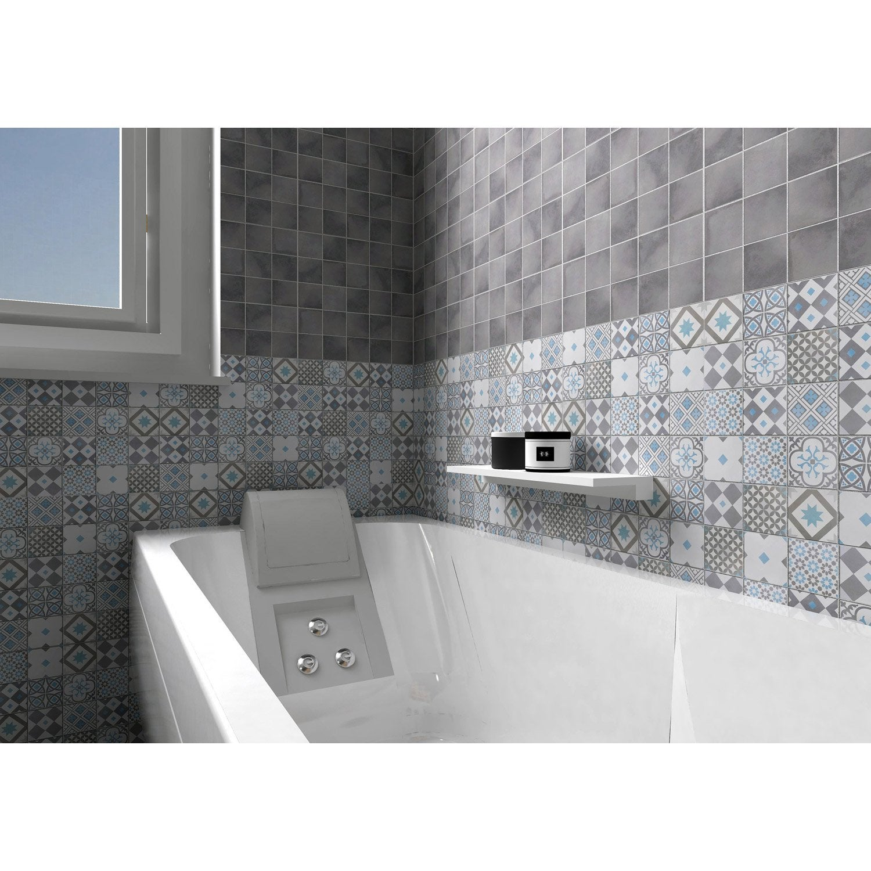 mosa que sol et mur gatsby d cor gris et bleu x cm leroy merlin. Black Bedroom Furniture Sets. Home Design Ideas