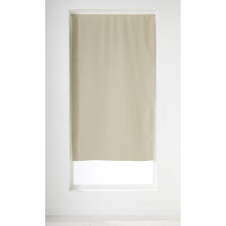 rideau obscurcissant petite hauteur petit obscurcissant cru x cm leroy merlin. Black Bedroom Furniture Sets. Home Design Ideas